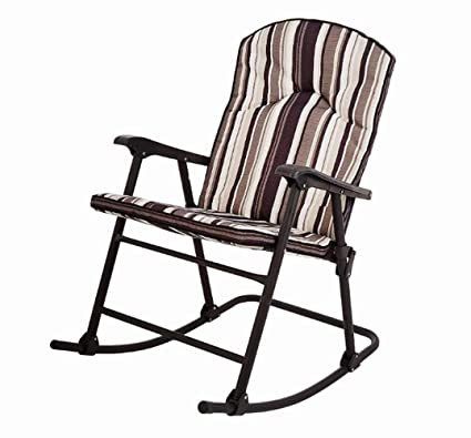 Excellent Amazon Com Striped Patio Rocking Chair With Cushion Forskolin Free Trial Chair Design Images Forskolin Free Trialorg