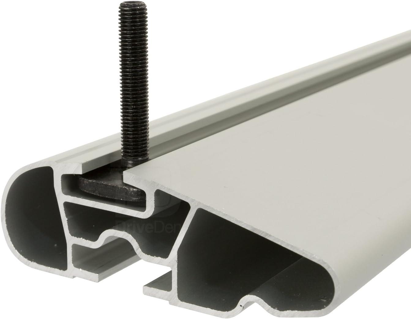 Farad Compact Pro FA-COMP-047b Aluminium Silver Wing Roof Bar Set Closed Roof Rails