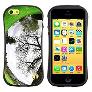 "Hypernova Slim Fit Dual Barniz Protector Caso Case Funda Para Apple iPhone 5C [Planta Naturaleza Forrest Flor 94""]"
