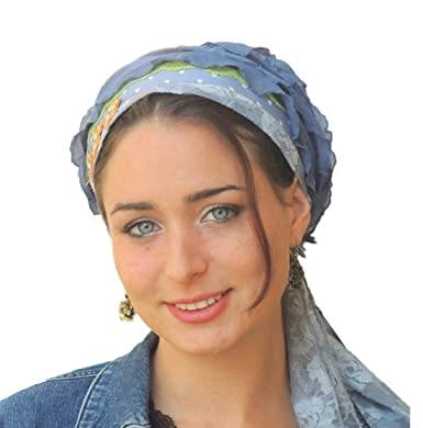 Sara Attali Design Tichel Half Hair Covering Ruffle Chemo Cap ... 164461c4970