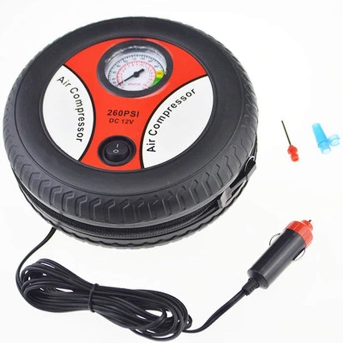 Compresseur dair de Pompe de Pneu de Voiture Mini Conception de Pneu 12V Machine de gonflage /électrique de Tension dentr/ée appropri/ée /à la Plupart des Voitures
