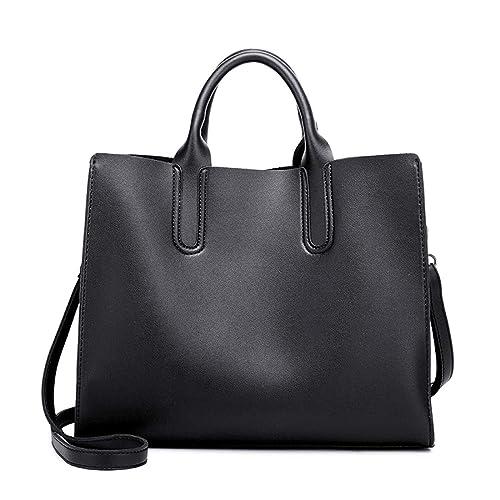 Amazon.com  Heshe Faux Leather Women Handbags Tote Bag Top Handle Bag  Shoulder Handbag Ladies Designer Satchel Purse Crossbody Bag (Black)  Shoes 2b018026a1b91