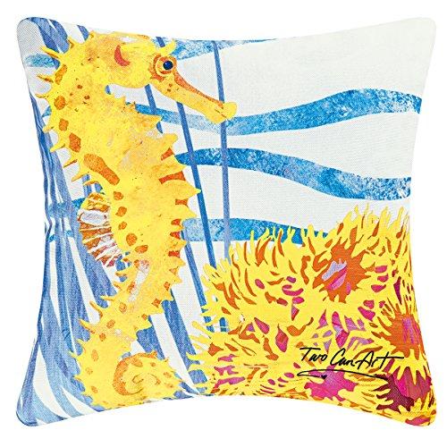 - Seahorse Decorator Pillow, Indoor Outdoor Use