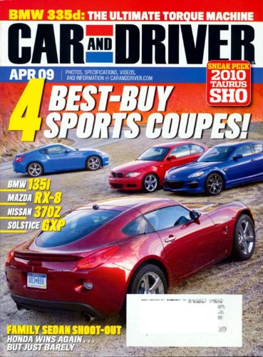 Orchard Coupe (Car and Driver April 2009 4 Best-Buy Sports Coupes)