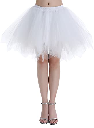 590100a2bee6 Dressystar Petticoats Minirock Kurz Unterrock Tutu Unregelmäßig Tüll Damen  Mädchen Ballettrock Multi-Schichten  Amazon.de  Bekleidung