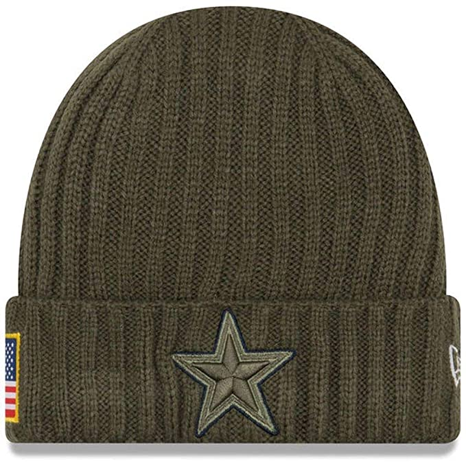 release date b6e62 a3f04 Amazon.com   Dallas Cowboys Salute to Service 2017 Knit Hat   Clothing