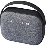 Avenue Woven Fabric Bluetooth Speaker (5.9 x 2.1 x 4.7 inches) (Solid Black)