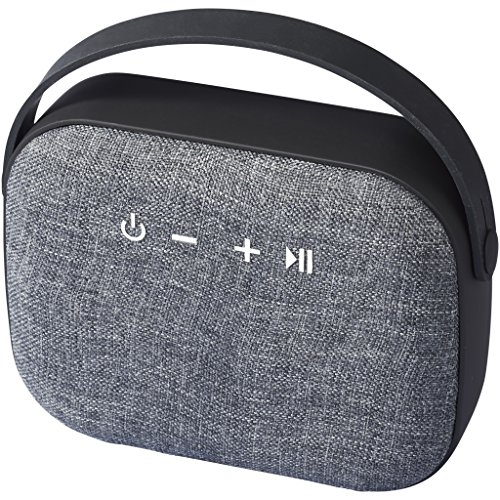 Avenue Woven Fabric Bluetooth Speaker (5.9 x 2.1 x 4.7 inches) (Solid Black) by Avenue