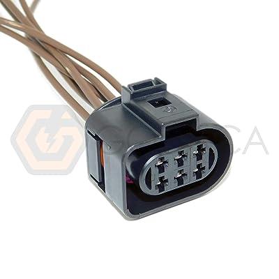 1x Connector 6-way for Lambda Sensor Tail Light VW 1J0 973 733: Automotive