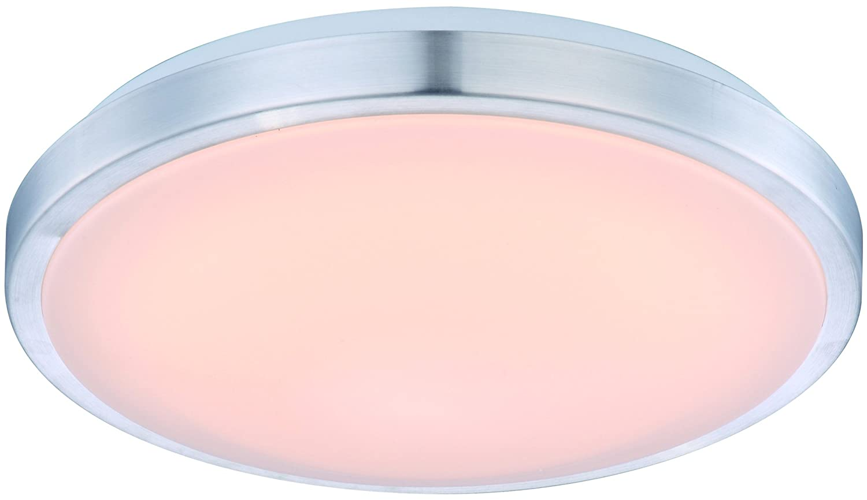 Eco Light LED-Badleuchte Milano inklusive Sensor mit versch, Deckenleuchte, 880 lm, 12 W, Durchmesser 30 cm, IP44, silberfarbig 8020-30-PIR ECO-LIGHT