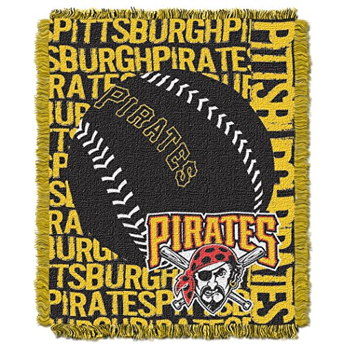 The Northwest Company Officially Licensed MLB Pittsburgh Pirates Double Play Jacquard Throw, 48