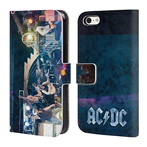 Officiel AC/DC ACDC Performance De Concert Photo De Groupe Étui Coque De Livre En Cuir Pour Apple iPhone 5c