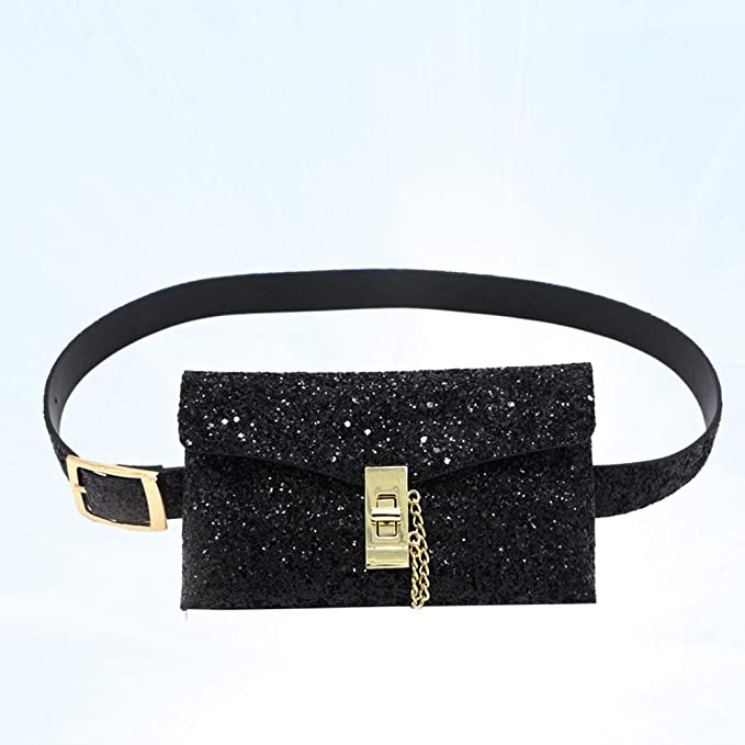 5220d29d4486 Amazon.com: TENDYCOCO Fashion Leather Belt Bag for Women, Glitter ...