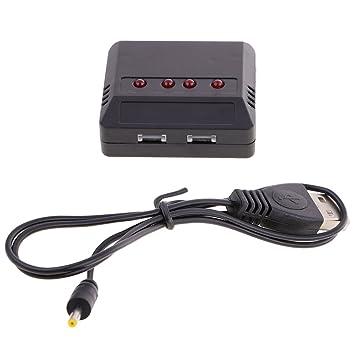 MagiDeal Adaptador de Célula USB Cargador de 4 Puertos para Control Remoto Fácil Instalar Portátil