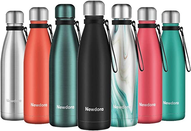 Stainless Steel Water Bottle Vacuum Insulated Thermos Hot Chilly Drink Kids Gym