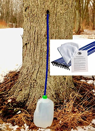 Maple Syrup Tree Tapping Kit (Pack of 10) Includes 3-Foot Drop Line Tubes, 5/16
