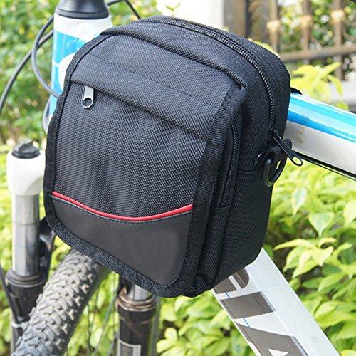 - Meanhoo Bicycle Pannier Waist Bag Cycling Bike Handlebar Waterproof Pouch Front Storage