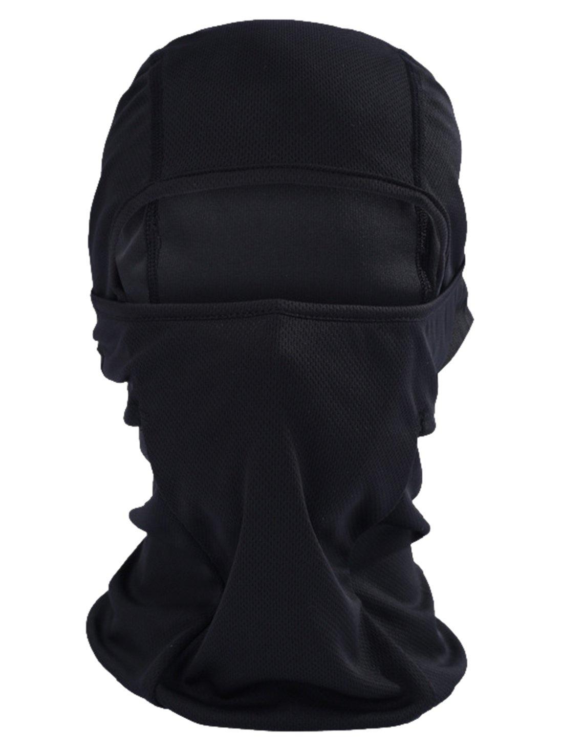 Outdoor Sports Skiing Fishing Neck Hood Full Face Mask Motorcycle Biking Balaclava Black