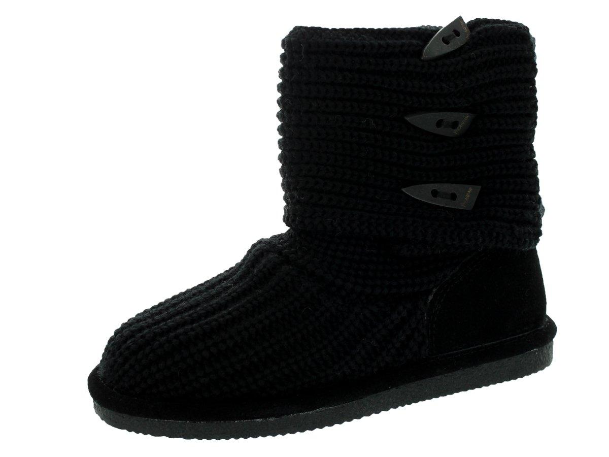 BEARPAW Knit Tall Women's Boot 6 B(M) US Black