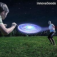 InnovaGoods Ig812553 Frisbee con LED, Unisex Adulto, Multicolor