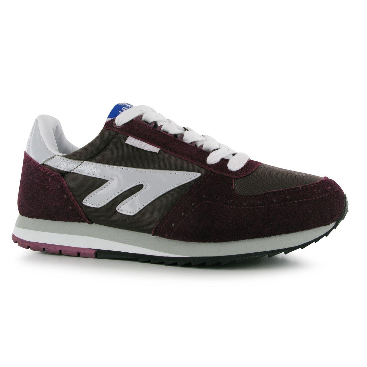 bb976b3018d Hi-Tec Silver Shadow Trainers Mens Burgundy/White Sports Shoes ...