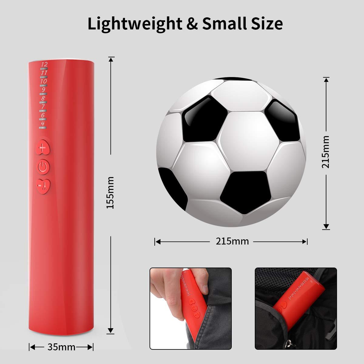 Bomba de Bola, Bomba de Aire rápida eléctrica automática con Aguja y Manguera, para su Pelota de fútbol, de Rugby, de Voleibol, de Baloncesto, de Balonmano y de Otras Bolas inflables