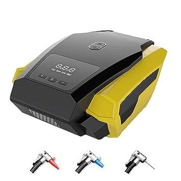 Compresor de Aire Digital KENOVE Bomba Inflador PortáTil con Luz Led 12V 3 Adaptadores Boquilla para NeumáTicos Objetos Inflables: Amazon.es: Coche y moto