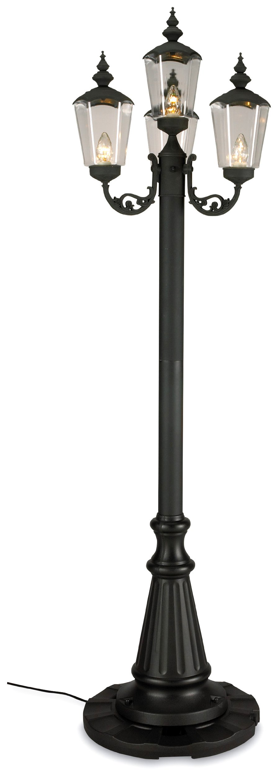 Cambridge 00440 Four Lantern Black Patio Lamp 85-inches Tall by Patio Living Concepts
