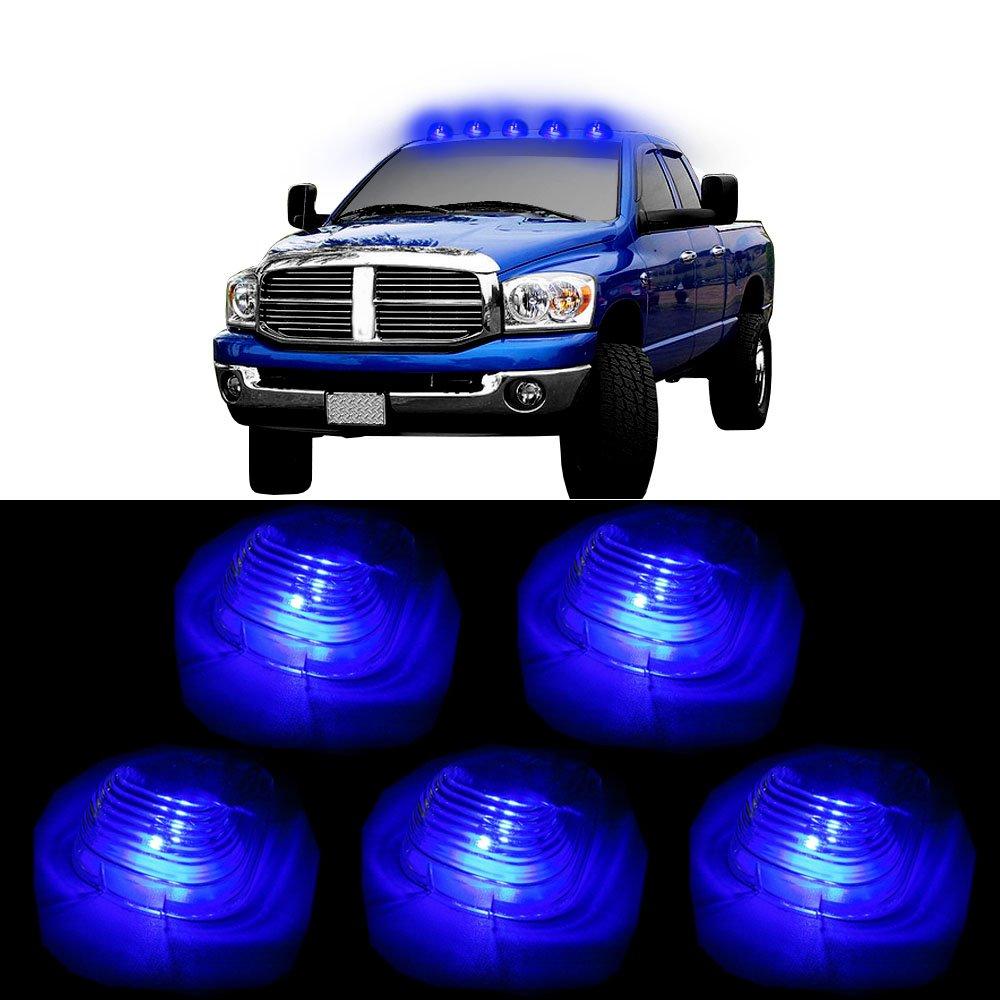 CCIYU 5xClear Cab Marker Clearance Light +T10 Blue led For 2003-2015 E150 E250 E350 E350 Super Duty E450 Super Duty F250 F350 F450 F550 Super Duty F150