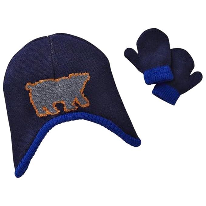 38be9385070 Amazon.com  TOBY Infant Boys Reversible Blue Cammo Polar Bear ...