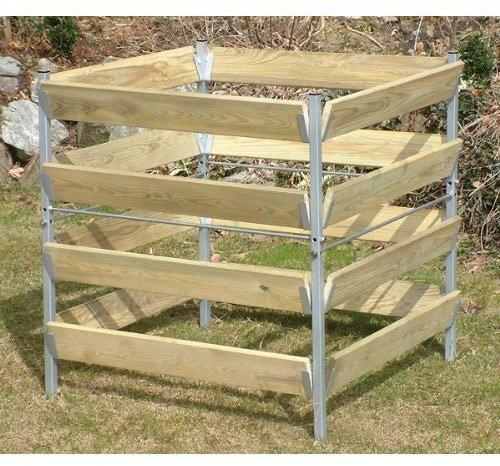 bellissa Komposter Holz/Metall 90x90x90 cm