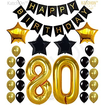 KATCHON 80th Birthday Decorations Party Supplies