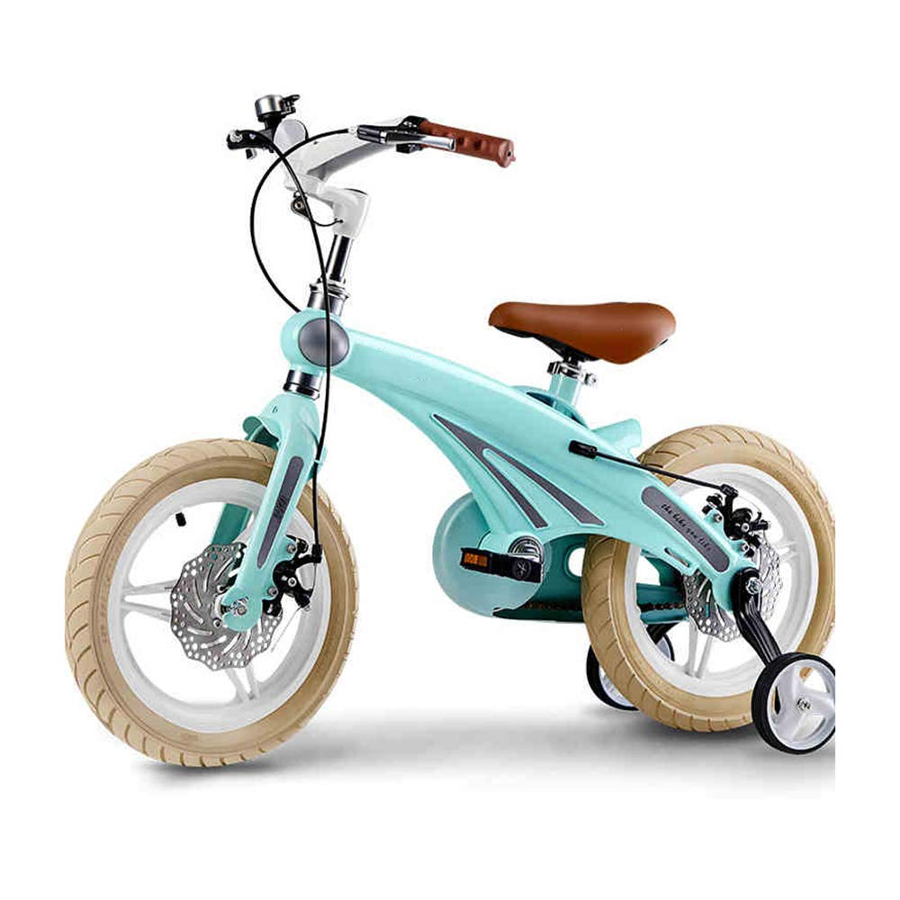 MEIDUO 子ども用自転車 キッズバイク、トレーニングホイール付き12-14-16インチ4色使用可能男の子および女の子用ギフト 少年少女の自転車 16 inch Green B07LFJ5S9C