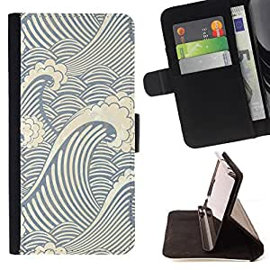 Jordan Colourful Shop - Swirl Wave Pattern For Apple Iphone 6 - Leather Case Absorci???¡¯???€????€???????????
