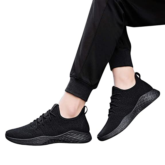 Amazon.com: JSPOYOU Men Sneakers Comfortable Non-Slip Soft Mesh Shoe: Shoes