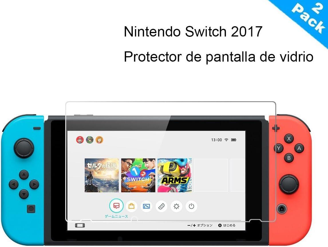 Yincol [A] Nintendo Switch Protector de Pantalla,Vidrio Templado Tempered Glass [ Anti-reflejo,Ultra Resistente, 2.5D, 9H dureza,Alta Definición] Cristal Templado para Nintendo Switch 2017: Amazon.es: Electrónica