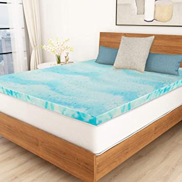 Amazon Com Polar Sleep Mattress Topper Queen 3 Inch Gel Swirl