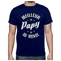 Meilleur Papy Au Monde Humour Cadeau Grand-Père T-Shirt Homme