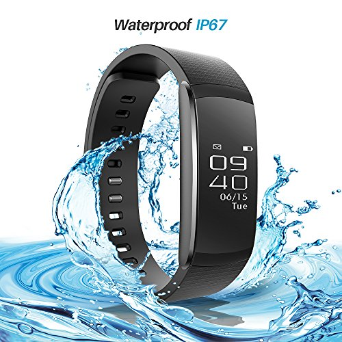 Smart Watch - iWOWN I6pro Smart Bracelet Heart Rate Monitor Pedometer Sport Step Tracker Calorie Counter Sleep Monitor Call reminder Touch Screen Waterproof IP67 for iPhone Android Smartphone