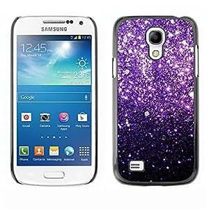 TopCaseStore / la caja del caucho duro de la cubierta de protección de la piel - Glitter Bling Shiny Stars Iridescent - Samsung Galaxy S4 Mini i9190 MINI VERSION!