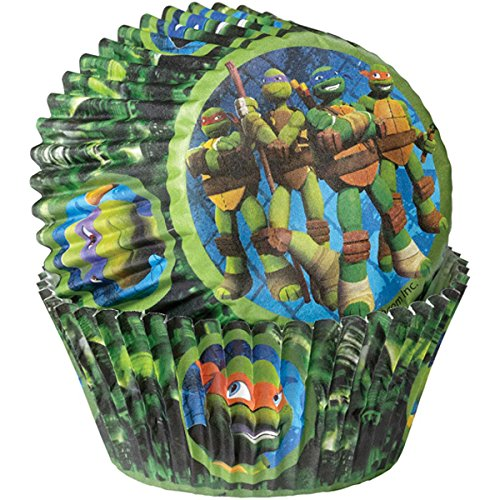 Wilton 415-7745 50 Count Teenage Mutant Ninja Turtles Baking Cups