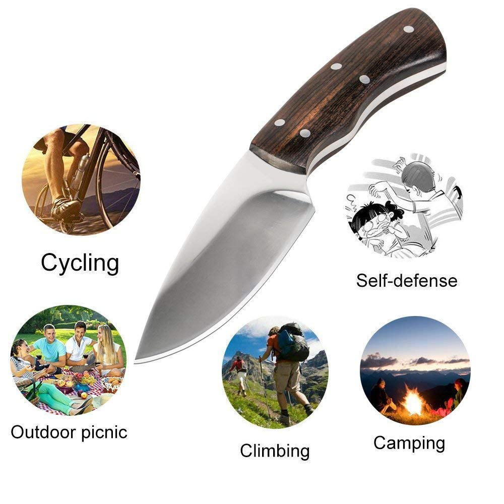 KTFNOMES Pocket Knives, 5.52 inches Mini Stainless Steel Outdoor Knife Sharp with Chef Knife/Knives & Tools/Best Choice for Survival, Camping, Craft, Gardenin by KTFNOMES (Image #7)