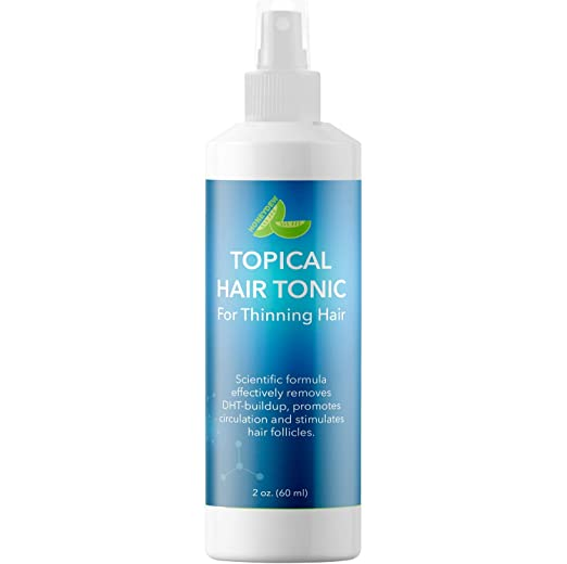 Thinning Hair Tonic For Thicker Hair - Natural Hair Thickener and Follicle Stimulator for Hair Growth - Advanced Formula With Evening Primrose Tea Tree Saw Palmetto Coconut Argan Oil and Grapeseed