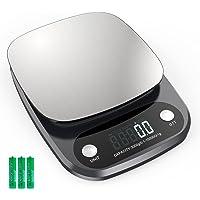 Digitale keukenweegschaal, 10 kg, digitale weegschaal met lcd-display, precisie tot 0,1 g, digitale keukenweegschaal…