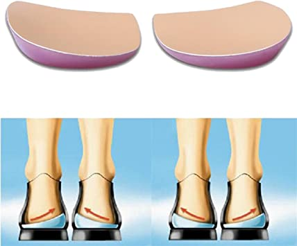 UniSign かかと中敷き かかと補正パッド O/X脚整形外科用インソール 衝撃吸収クッション 2足4枚 男女兼用