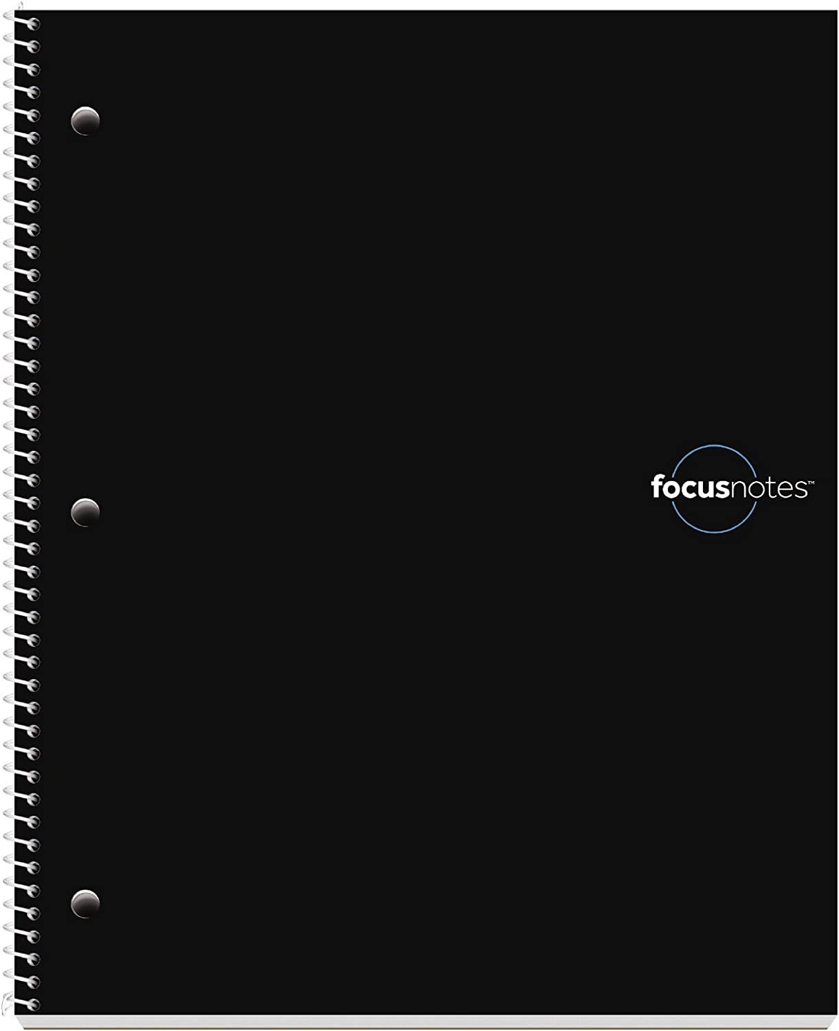TOPS FocusNotes Note Taking System 1-Subject Notebook, 11 x 9 Inches, White, 100 Sheets (90223) - Black