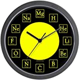 Periodic table chemistry wall clock amazon kitchen home cafepress chemistry geek unique decorative 10 wall clock urtaz Images