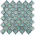 "SomerTile FKOLTR33 Tinge Marine Porcelain Floor and Wall Tile, 12.375"" x 12.5"", Blue"