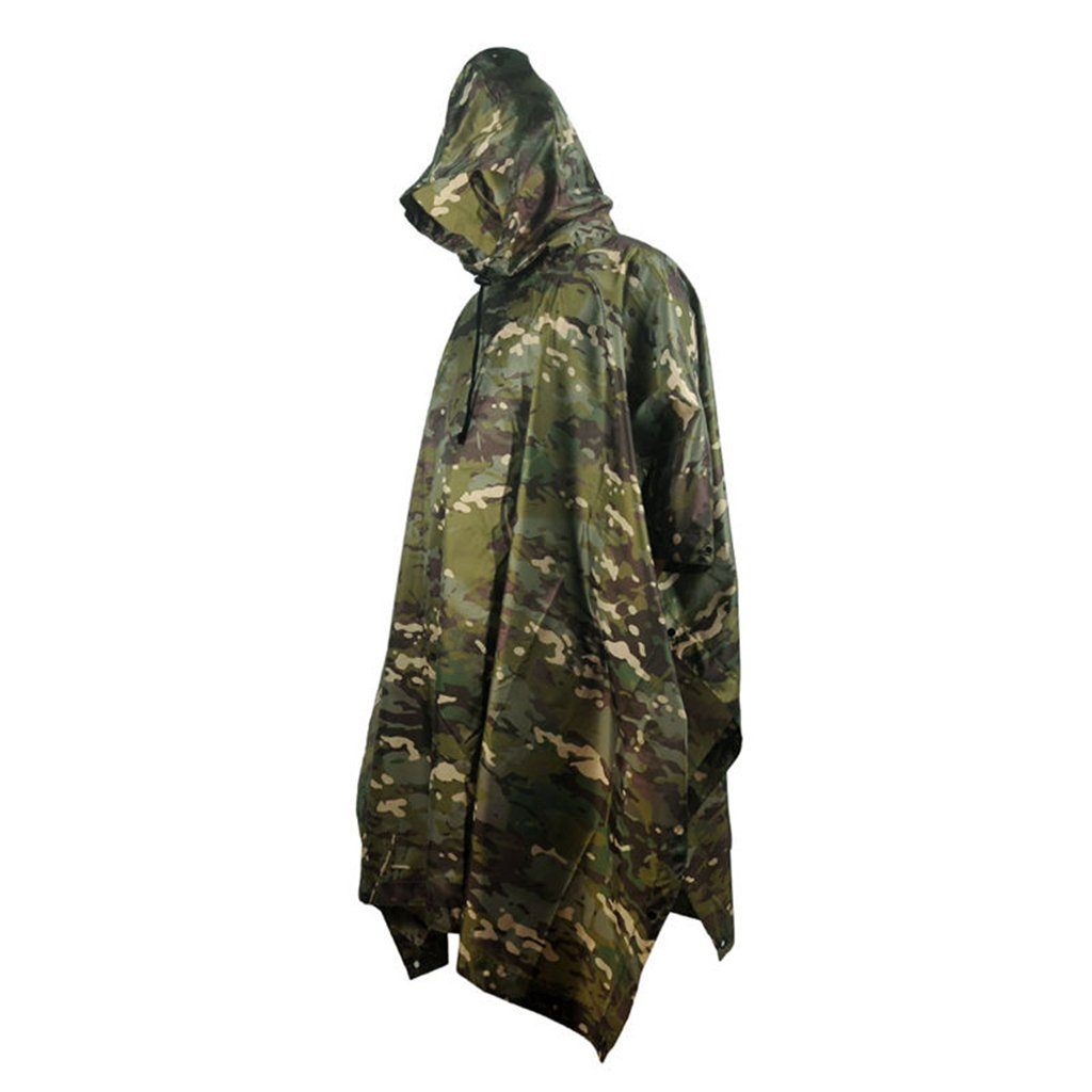 Portable Raincoat Suit Outdoor Camouflage Raincoat Jungle Maple Leaf Concealed Multi-Purpose Poncho Mat Multi-Purpose Environmental Poncho for Outdoor Walking Cycling (Color : F) by LYP-Rainwear