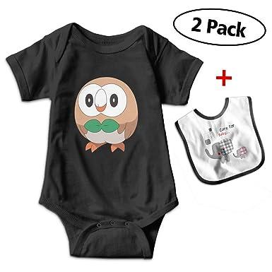 Amazon Com Boys Girls Short Sleeve Anime Owl Romper Jumpsuit With